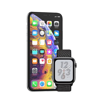 Apple iPhone Xs in pametna ura Watch Nike+ Series 4 GPS 44mm Nike Sport Loop