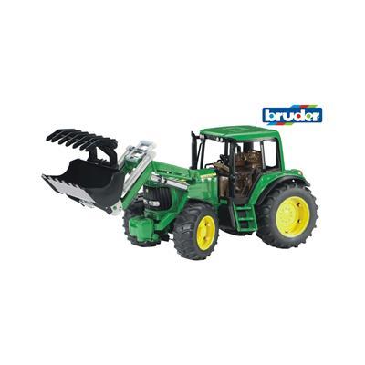 Bruder Traktor John Deere 6920 z nakladalko 02052