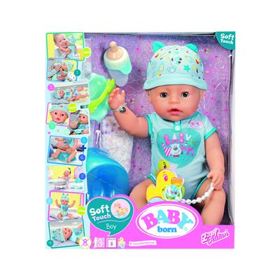 Zapf BABY born® Soft Touch deček z dodatki