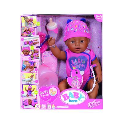Zapf BABY born® dojenček temnopolta deklica