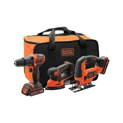 Black & Decker Set akumulatorskega orodja BCK31S1S (udarni vrtalnik, vbodna žaga in brusilnik)