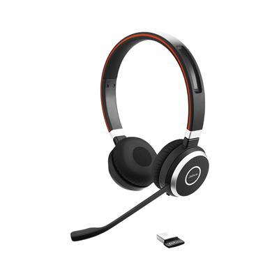 Jabra Brezžične naglavne slušalke Evolve 65 MS Duo USB in dongle Jabra Link 370