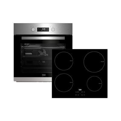 Beko Komplet indukcijska kuhalna plošča in električna pečica (BSM22321X)