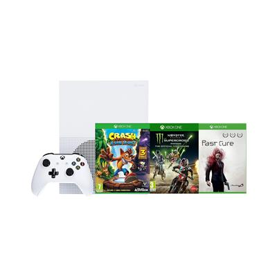 Microsoft XBOX S in 3 igre (Past Cure + Monster Energy Supercross + Crash Bandicoot n.SANE Triology)