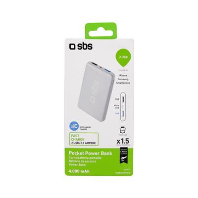 SBS Polnilna baterija Pocket (TEBB4000POCW)