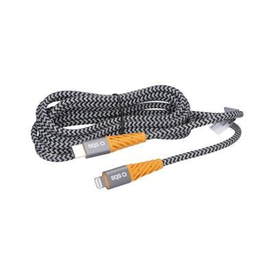 SBS Podatkovni kabel USB 2.0 in Type-C Lightning (TECABLEUNRELTC2YK)