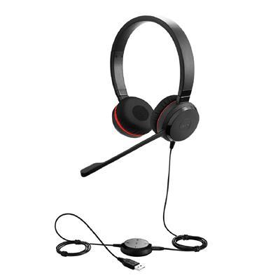 Jabra Naglavne slušalke Evolve 30 II MS Duo USB z 3,5 mm konektorjem
