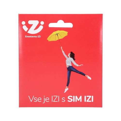 IZI Paket s SIM kartico