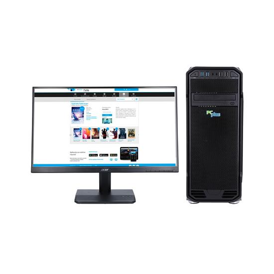 PCplus Gamer AMD + monitor Acer 24.5