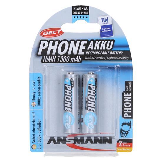 Ansmann NiMH polnilni baterijski vložek 2xAA