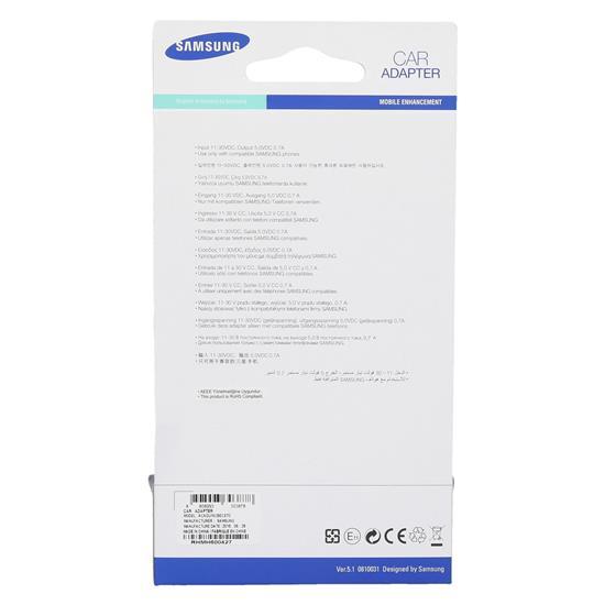Samsung Avto polnilnic Micro USB 12/24V (ACADU10CBECSTD)