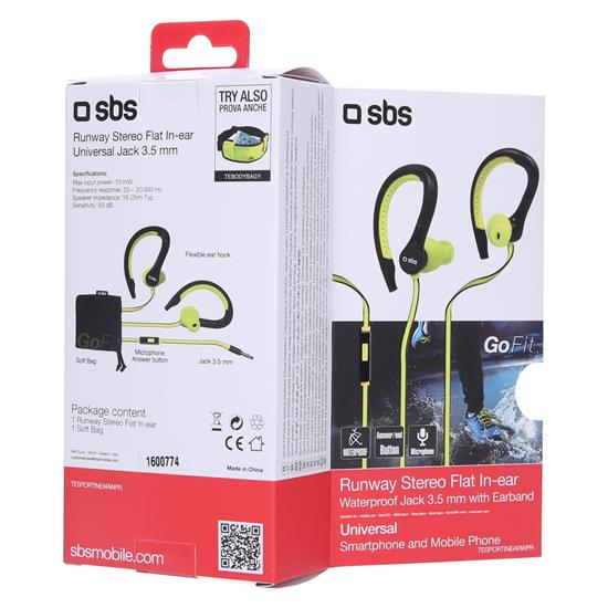 SBS Stereo slušalke Runway 3 (TESPORTINEAPR)
