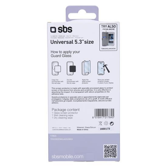SBS Univerzalno kaljeno steklo (TESCREENGLASSUN53)