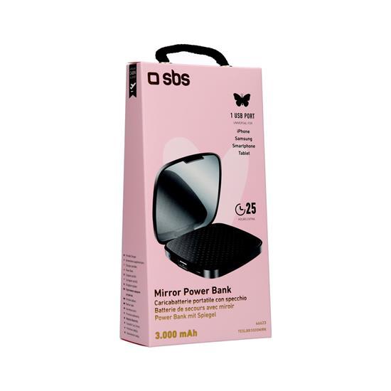 SBS Polnilna baterija z ogledalom (TESLBB3000MIRK)